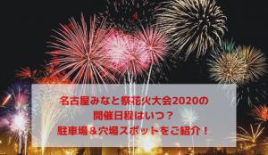 名古屋みなと祭花火大会2020はコロナで中止!開催日程はいつ?駐車場&穴場スポットをご紹介!
