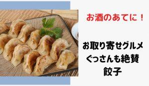 ぐっさん家でお取り寄せした豊橋にある餃子の名店はどこ?3月27日放送の和風あん餃子夏目家について